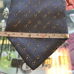Vintage Accessories - DAMON Silk Chain Links Equestrian Tie Grey